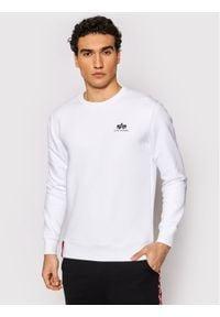 Alpha Industries Bluza Basic 188307 Biały Regular Fit. Kolor: biały