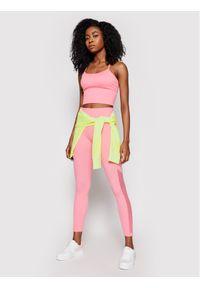 Różowe legginsy DKNY Sport sportowe