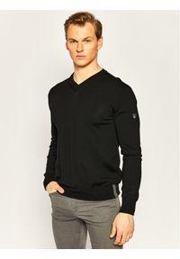 EA7 Emporio Armani Sweter 8NPMZ7 PM62Z 1200 Czarny Regular Fit. Kolor: czarny