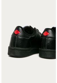 Czarne sneakersy Lee Cooper z okrągłym noskiem, z cholewką, na sznurówki