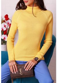 Żółta bluzka IVET z golfem #1
