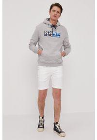 Pepe Jeans - Bluza Harvey. Okazja: na co dzień. Kolor: szary. Wzór: aplikacja. Styl: casual
