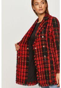 Czerwony płaszcz Liu Jo klasyczny, bez kaptura