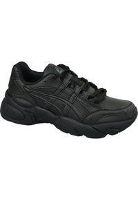 Czarne sneakersy Asics lifestyle w kolorowe wzory, z cholewką