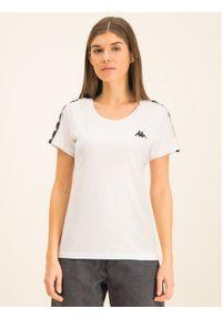 Kappa T-Shirt Fimra 306045 Biały Regular Fit. Kolor: biały