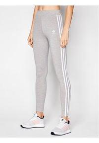 Adidas - adidas Legginsy adicolor Classics 3-Stripes GN4506 Szary Tight Fit. Kolor: szary
