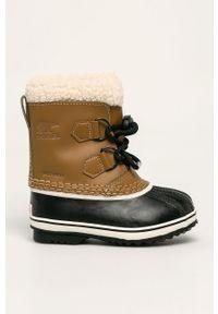 Buty zimowe sorel na sznurówki, na zimę, z cholewką