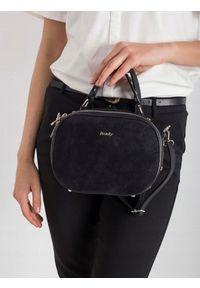 Czarna torebka ROVICKY elegancka, skórzana