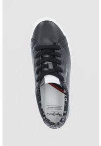Pepe Jeans - Tenisówki Kenton Plain. Nosek buta: okrągły. Zapięcie: sznurówki. Kolor: czarny. Materiał: guma