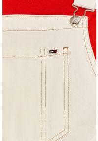 Tommy Jeans - Ogrodniczki. Okazja: na co dzień. Kolor: biały. Materiał: tkanina. Styl: casual