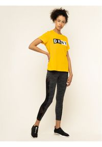 Żółty t-shirt DKNY Sport sportowy