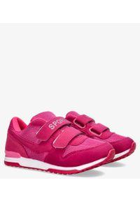 Casu - Fuksjowe buty sportowe na rzepy casu hb-201d. Zapięcie: rzepy