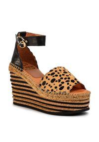 Brązowe sandały Kanna na co dzień, casualowe
