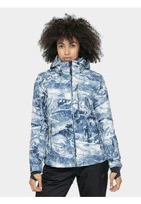4f - Kurtka narciarska damska. Typ kołnierza: kaptur. Kolor: wielokolorowy. Materiał: mesh, materiał, poliester. Sezon: zima. Sport: narciarstwo