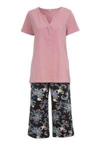 Cellbes Piżama złamany róż we wzory female różowy/ze wzorem 46/48. Kolor: różowy. Materiał: bawełna, guma. Długość: krótkie