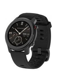 Czarny zegarek AMAZFIT smartwatch, elegancki