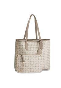 Biała torebka klasyczna Pollini klasyczna, skórzana