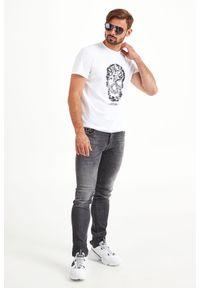 T-shirt Just Cavalli elegancki, w kolorowe wzory
