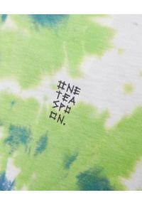 ONETEASPOON - Koszulka Broke and Famous. Kolor: zielony. Materiał: bawełna, jeans. Wzór: napisy, nadruk. Sezon: lato. Styl: vintage #4