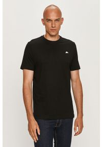 Czarny t-shirt Kappa z aplikacjami, na co dzień, casualowy