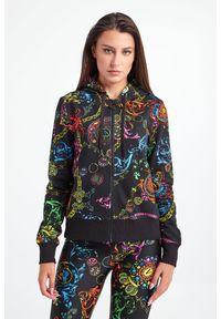 Versace Jeans Couture - BLUZA VERSACE JEANS COUTURE. Okazja: na co dzień. Typ kołnierza: kaptur. Materiał: materiał. Styl: casual