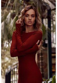 Sukienka MOE maxi, z długim rękawem