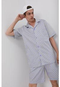 adidas Originals - Koszula bawełniana. Okazja: na co dzień. Kolor: fioletowy. Materiał: bawełna. Długość rękawa: krótki rękaw. Długość: krótkie. Styl: casual