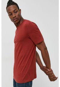 Only & Sons - T-shirt. Okazja: na co dzień. Kolor: brązowy. Materiał: dzianina. Wzór: gładki. Styl: casual