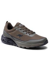 KangaRoos - Sneakersy KANGAROOS - Kx-3500 18622 000 8010 Olive/Jet Black. Okazja: na uczelnię, na spacer. Kolor: zielony. Materiał: materiał. Szerokość cholewki: normalna