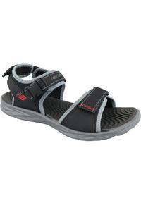Czarne sandały sportowe New Balance w kolorowe wzory