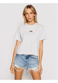 Tommy Jeans T-Shirt Tjw Bxy Crop Modern Logo DW0DW09923 Szary Regular Fit. Kolor: szary