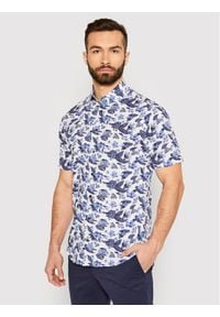 Tommy Hilfiger Tailored Koszula Large Floral Print MW0MW18449 Biały Regular Fit. Kolor: biały. Wzór: nadruk