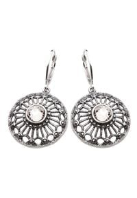 Polcarat Design - Kolczyki srebro Swarovski K 1505. Materiał: srebrne. Kamień szlachetny: kryształ