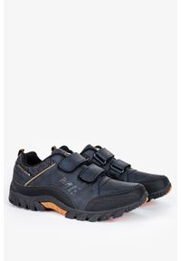 Badoxx - Granatowe buty trekkingowe na rzepy badoxx mxc8142. Zapięcie: rzepy. Kolor: niebieski, brązowy, wielokolorowy