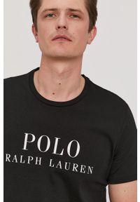 Polo Ralph Lauren - T-shirt. Okazja: na co dzień. Typ kołnierza: polo. Kolor: czarny. Wzór: nadruk. Styl: casual