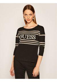 Guess Sweter Alessia W0YR87 Z2BB0 Czarny Regular Fit. Kolor: czarny