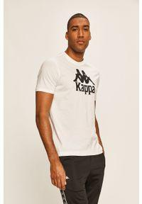 Biały t-shirt Kappa z nadrukiem