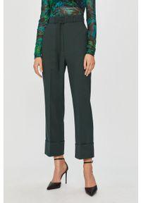 Zielone spodnie materiałowe Sportmax Code z podwyższonym stanem, klasyczne