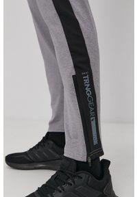 4f - 4F - Spodnie. Kolor: szary. Materiał: włókno, dzianina
