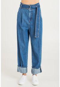 JEANSY ENRICO Sportmax Code. Stan: podwyższony. Materiał: jeans. Styl: klasyczny