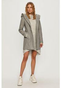Szary płaszcz Vero Moda casualowy, z kapturem, na co dzień #6