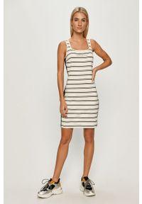 Biała sukienka Calvin Klein Jeans prosta, na co dzień, mini #6