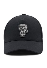 Karl Lagerfeld - Czapka z daszkiem KARL LAGERFELD - 805613 511118 Black 990. Kolor: czarny. Materiał: materiał, poliester, elastan