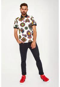 Versace Jeans Couture - POLO VERSACE JEANS COUTURE. Typ kołnierza: polo. Długość rękawa: krótki rękaw. Długość: krótkie. Styl: klasyczny