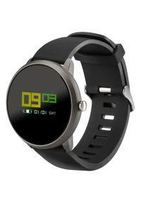 Czarny zegarek Acme smartwatch, klasyczny