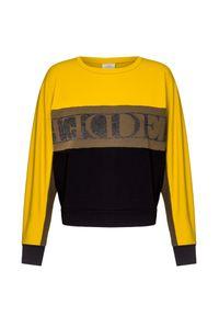 Deha - Bluza DEHA ACTIVE. Kolor: żółty. Materiał: tkanina. Wzór: nadruk