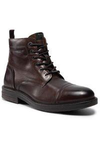 Brązowe buty zimowe Pepe Jeans