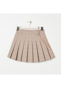 Kremowa spódnica Sinsay w kratkę