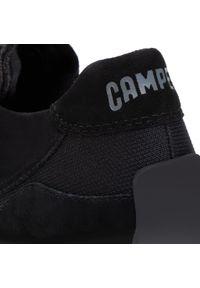 Czarne półbuty Camper na płaskiej podeszwie, z cholewką