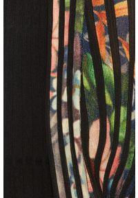Czarny sweter rozpinany Desigual casualowy, z długim rękawem, na co dzień